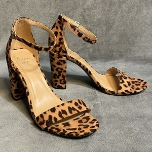A New Day Leopard Print Strappy Block Heels!